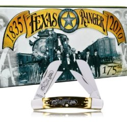 Schrade 4Trt Uncle Henry Texas Rangers 175Th Anniversary Pocket Knife In  Master Congress Collectors Tin