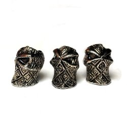 Moxx 5 Metal Skull Beads For Paracord Projects (Ninja)