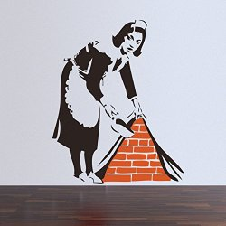 Top-Me Banksy Wall Decal Sticker Vinyl Street Art Graffiti Bedroom Kitchen French Maid Tm8388