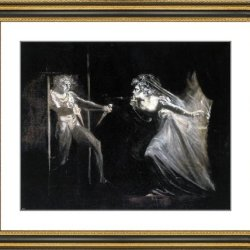 "John Henry Fuseli Lady Macbeth With The Daggers - 23"" X 25.5"" Matted Framed Premium Archival Print"