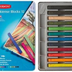 Derwent Inktense Blocks, 4Mm Core, Metal Tin, 12 Count (2300442)