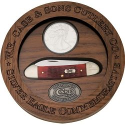 Case Canoe-Silver Eagle Knife And Coin Set 6282