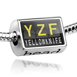 Bead Yzf Airport Code For Yellowknife - Charm Fit All European Bracelets , Neonblond