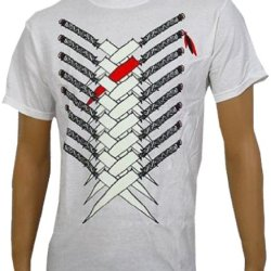 3Oh!3 - Knives - White T-Shirt - Size Youthlarge