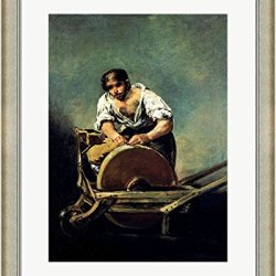 The Knife-Grinder By Francisco De Goya Framed Art Print Wall Picture, Silver Scoop Frame With Hanging Cleat, 24 X 29 Inches