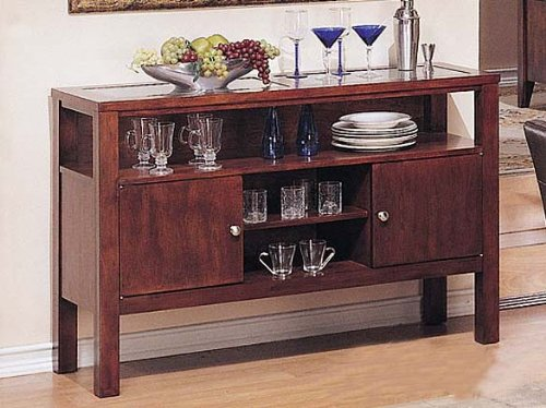 Image of Server Sideboard Dark Brown Finish (VF_AZ00-39595x21516)