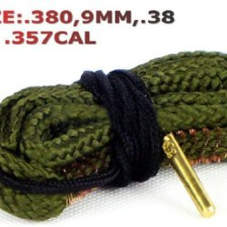 Nuoya001 Hunting Bore Snake 9Mm .308 .38 .357 Caliber Cleaner Strap For Rifle Scope Gun