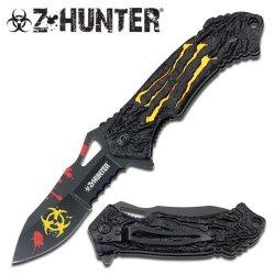 Z Hunter Zb-040Yl Spring Assist Closed Knife, 4.5-Inch