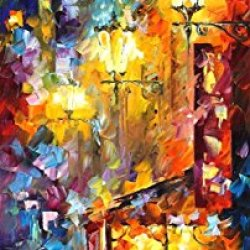 Vintage Soul Palette Knife Oil Painting On Canvas Wall Art Deco Home Decoration 16 X 40 In Unframed