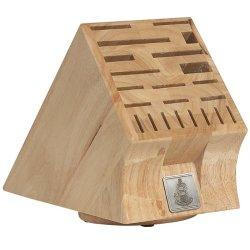 Messermeister 22 Slot Swivel Base Wood Knife Block