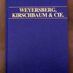 Book: Weyersberg Kirschbaum Catalog 1892