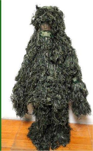 サバゲーの究極!全身が草木になる 森林に溶け込み身を潜めて敵に近付くサバイバルゲーム用 ギリースーツ
