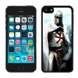Diy Assassins Creed Desmond Miles Guard Helmets Knife Fist Attack Iphone 5C Black Phone Case