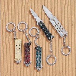 Mini Keychain Butterfly Style Folder (Silver)