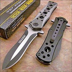 Tac-Force Carbon Fiber Dagger Pocket Knife New!