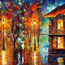 Rain Energy Art Wall Decorative Canvas Knife Painting On Canvas 30 X 24 In 75 X 60 Cm Unframed