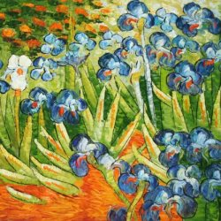 "Irises _ Van Gogh _Oil Painting On Canvas 20X24"" Postimpressionist Modern Wall Canvas Art"