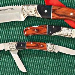 Winchester 31-000149 Pakka And Cherry Knife Set, 3-Piece