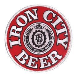 "New 4 3/4"" Iron City Beer Embroidered Patch Pittsburgh Brewing - Pittsburgh Pride"