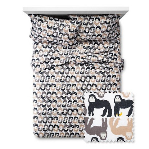 Pillowfort-Gorilla-Gathering-Twin-Sheet-Set