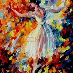 100% Hand-Painted Bestanvas 4Pcs/Set Mi-Selling Quality Goods Free Shipping Wood Framed On The Back Knife Painting Copy Ballet Dancer High Q. Wall Decor Landscape Oil Painting On Canvas