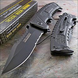 Tac-Force Black Sawback Clip Point Tactical Knife New!!!