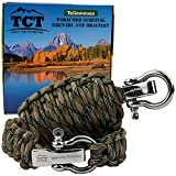 Paracord Grenade And Paracord Bracelet Set By The Camping Trail. Over 21 Ft Of Paracord And 17 Pieces Make This Great Survival Gear To Carry. This Survival Kit Makes A Great Xmas Gift For Men (Coyote Camo)