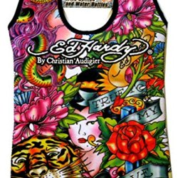 Ed Hardy Designs By Christian Audigier Neoprene 2 Bottle Wine Beverage Tote (Tatto Tiger Geisha)
