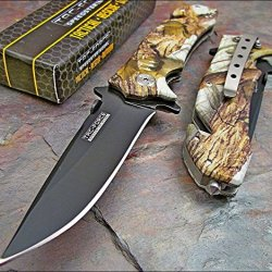 Tac-Force Assisted Opening Hardwoods Camo Rescue Folding Pocket Knife New