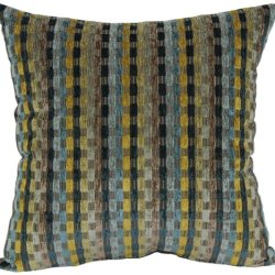 Brentwood Counter Culture Chenille 18-Inch Knife Edge Pillow, Teal