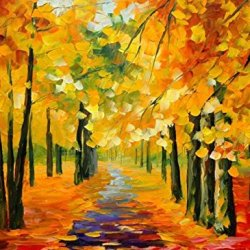 Fallen Leaves Art Wall Decorative Canvas Knife Paintng On Canvas 44X32In/110X80Cm Unframed