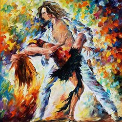 Tango' Love Art Wall Decorative Canvas Knife Painting On Canvas 30 X 36 In 75 X 90 Cm Unframed