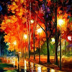 Reflection Of The Night Modern Canvas Art Wall Decor Palette Knife Oil Painting Wall Art 30 X 36 In Unframed