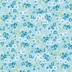"Decopatch Decoupage Paper Mache ""Light Blue Flowers Roses Green 569"""