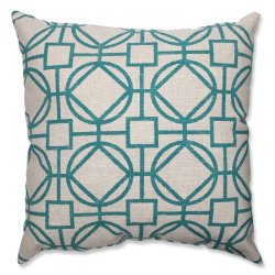 Pillow Perfect Suri Floor Pillow, 23-Inch, Turquoise