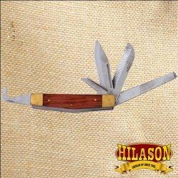 Hilason Horseman Knife Hoof Pick Comb Tool Farriers Grooming 5 Blade