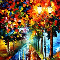 Happiness Of Autumn Oil Paintings Modern Canvas Wall Art Decor For Home Decoration Palette Knife On Canvas 30 X 36 In Unframed