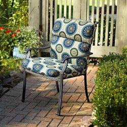Hinged Seat Cushion Knife Edge-High Back - Olive Green - Improvements