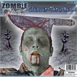 Forum Novelties Cleaver Thru Head Zombie Costume