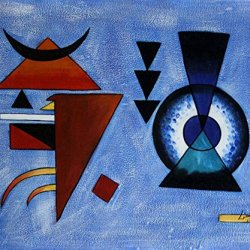 """Paul Klee_Weiches Hart (Soft, Hard)_Oil Painting On Canvas 20X24"""" Abstract Modern Wall Canvas Art Repro"""