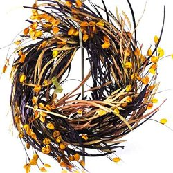 Purple And Orange Festive Paper Halloween Wreath Very Flowing And Full
