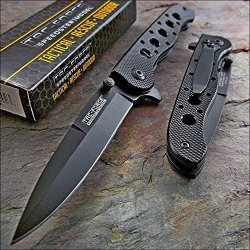 Tac Force Black Tactical Edc Folding Pocket Knife New