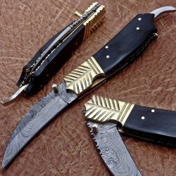 Custom Hand Made Damascus Pocket Folding Knife - Liner Lock