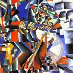 Kazimir Severinovich Malevich The Knife Sharpener 20X20 [Kitchen]