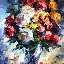 Valentine' Day Modern Canvas Art Wall Decor Palette Knife Oil Painting Wall Art 16 X 20 In Unframed