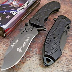 Usmc Marines Black Tactical Official Folding Pocket Knife