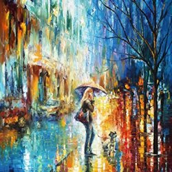 Stroll With A Friend Palette Knife Oil Painting On Canvas Wall Art Deco Home Decoration 30 X 40 In Unframed