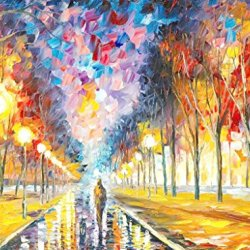 Modern Knife Paintng Painting Lonely Light Lonely Man Wall Decor Superb Paintings On Canvas 32X24In/80X60Cm Unframed