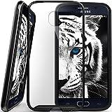 Galaxy S6 case, Caseology® [Dual Bumper Clear back] [Metallic Black] DIY Customization Fusion Hybrid Cover [Shock Absorbent] Samsung Galaxy S6 case