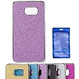 Galaxy Note 5 Case, Sophia Shop Thin Ultra Slim Premium PU Leather+Hard PC Bumper Anti-scratch Shockproof Cover For Samsung Galaxy Note 5 (Glitter Purple)